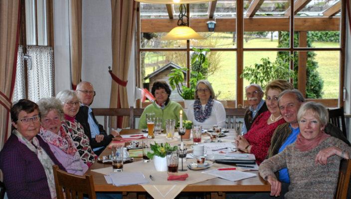 Die fröhliche Runde der AWO Au-Bad Feilnbach.
