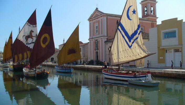 Der idyllische Hafen von Cesenatico.