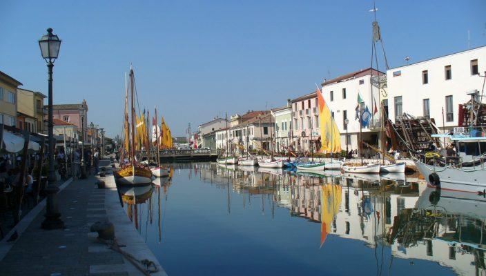 Der Hafen von Cesenatico.
