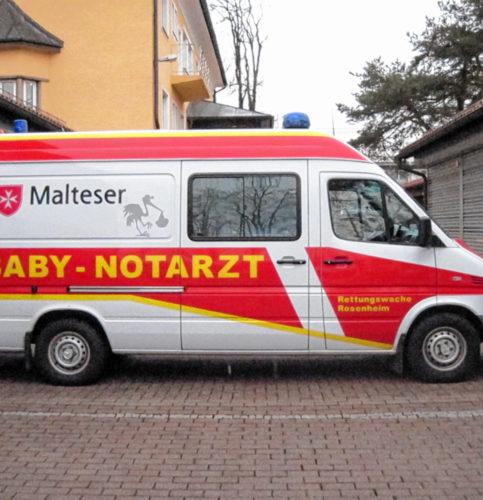 Der Babynotarztwagen ist ab Ende des Monats nicht mehr im Dienst.