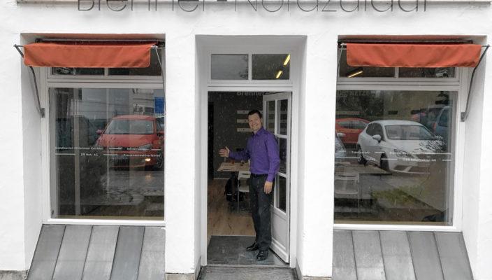 Das Infobüro in der Salinstraße ist eröffnet. Foto: re