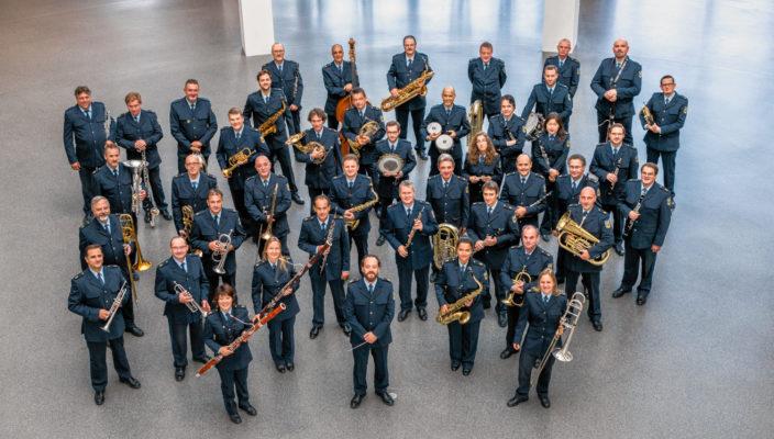 Das Münchner Bundespolizeiorchester spielte für den guten Zweck in Rosenheim.