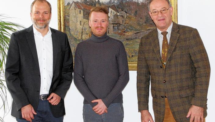 Gemeinsam aktiv für die Denkmalpflege, von links: Thomas Spindler, Daniel Hoheneder und Wolfgang Berthaler. Foto: re