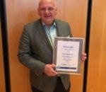 Franz Bergmüller erhielt die Ehrenmedaille aus Gold des BHG.