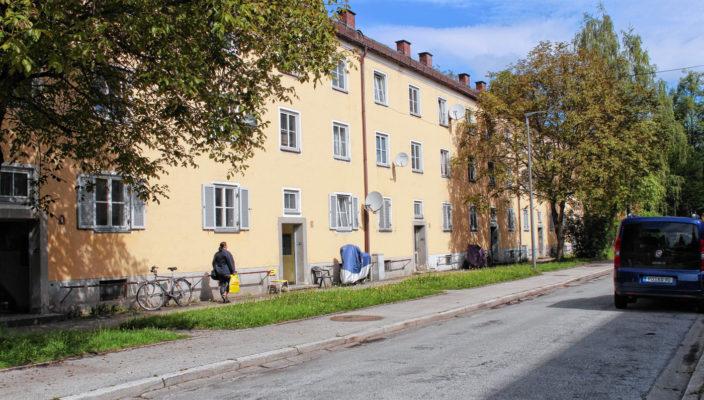 Die Bogensiedlung in Rosenheim wird der Erweiterung des Hochschule-Campus weichen.