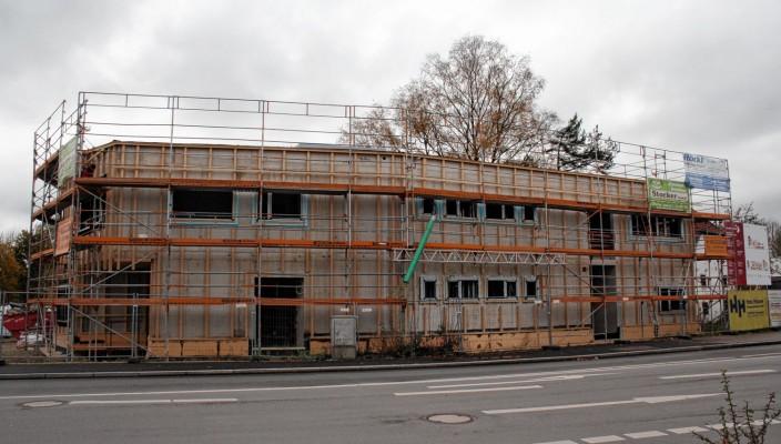 Der Bau nimmt jetzt schon deutliche Formen an. Foto: ff