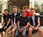 Griffin, Maximilian, Thomas und Alexander machen gerade einen Bundesfreiwilligendienst bei den Maltesern in Rosenheim. Foto: Margit Schmitz