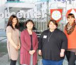 Von links: Pia Tscherch, Caritas Fachdienstleitung Soziale Dienste, Ingrid Kuchler, Teamleitung Jobcenter Rosenheim, Sandra Schergen und Farina Heimerl, Caritas Schuldnerberaterinnen.