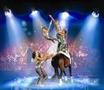 Die Medaillengewinner des Voltigierclubs Ingelsberg verwandeln die Reitfläche in ein Feuerwerk der Akrobatik.
