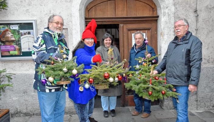 Die kleinen Bäumchen bringen Weihnachtsfreude in 80 Haushalte in Rosenheim. Foto: Schlecker