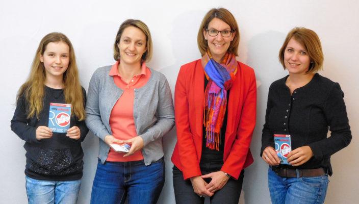Von links: Anna-Lena und Petra Pertl, Sabrina Obermoser, Geschäftsführung Citymanagent und Regina Schwägerl. Foto: re