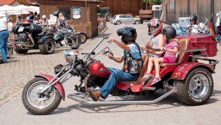 Die Fahrt auf einem Trike gehört wohl zu den ganz besonderen Erlebnissen.