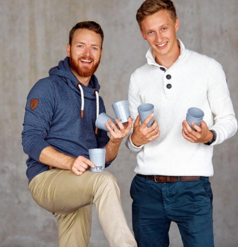 Fabian Eckert (links) und Florian Pachaly hatten eine zündende Idee.