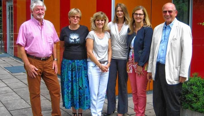 Der Vorstand des BKF und die neue Schirmherrin, MdB Daniela Ludwig: Peter von Quadt, zweite Vorsitzende Bettina Brühl, MdB Daniela Ludwig, Krisztina Desits, Beate Höss-Zenker und der Bundesvorsitzende Wolfgang Vogt.
