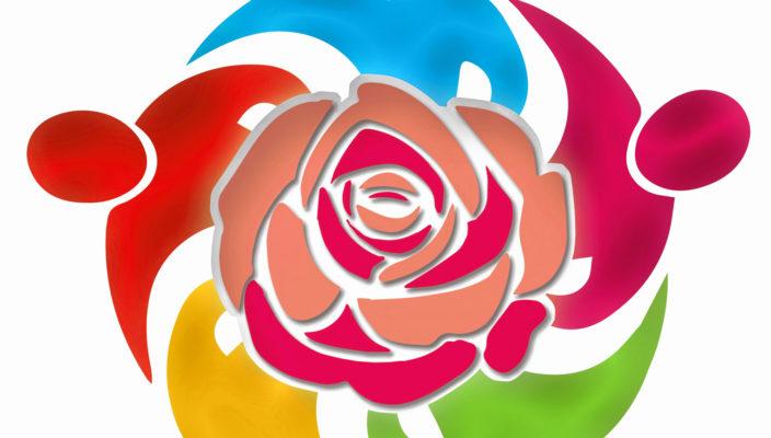 Bunt wie unsere Gesellschaft ist auch das Logo des Aktionsbündnisses.