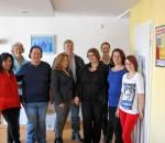 Strahlende Gesichter der EEFI-Projektteilnehmerinnen und Mitarbeiterinnen beim Abschluss einer Modellphase.