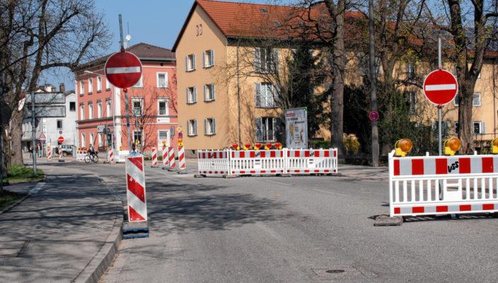 Derzeit ist die Ebersberger Straße nur für Anlieger offen. Foto: ff
