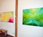 Blick in die Ausstellung von Brigitte Brunner.