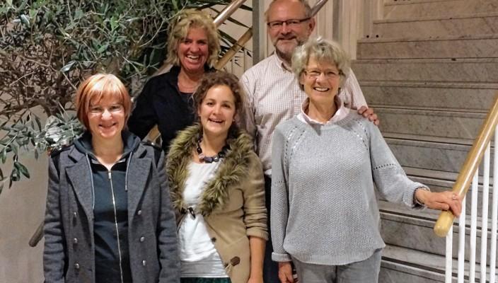 Heidemarie Hauser, Hanna Specht, Else Huber (von links) und hinten stehend Andrea Rosner und Ralf Exler.