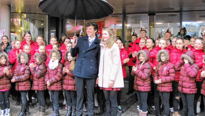 Das neue Prinzenpaar stellte sich am 11. November der Öffentlichkeit vor.