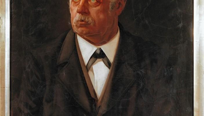 Das Ehepaar Anna (1825-1907) und Johann Nepomuk Finsterwalder (1829-1902), porträtiert im Jahr 1899 vom Rosenheimer Kunstmaler Michael Licklederer. Fotos: Raphael Lichius