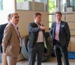 Gewerbeflächen waren das Thema, von links: Paul Adlmaier, Simon Zosseder und Andreas Bensegger.