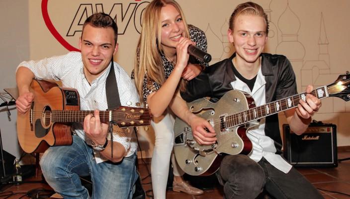"""Die Jugendband """"Safe 'n'Soul"""" sorgte für den würdigen musikalischen Rahmen bei der AWO-Preisverleihung im Mehrgenerationenhaus. Foto: Gröning"""