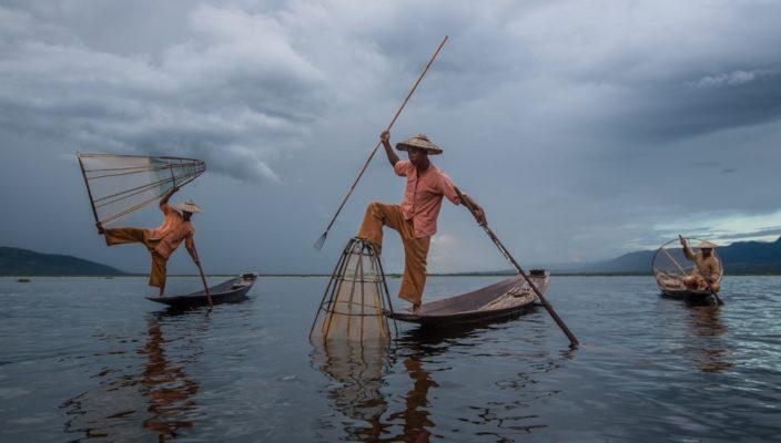 Fischer in Myanmar. Foto: Markus Mauthe/Greenpeace