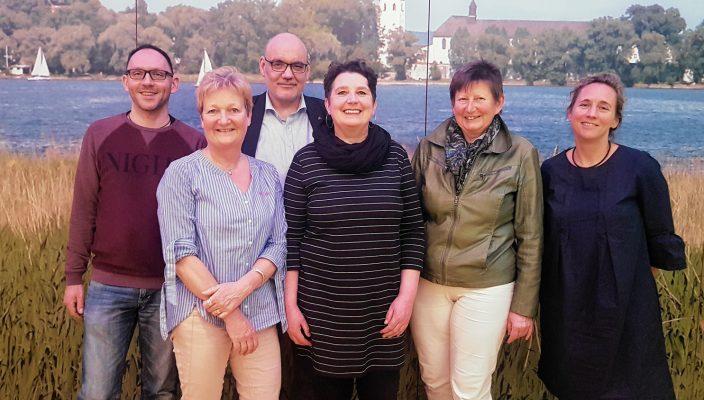 Der neue Vorstand, von links: Klaus Wimmer, Martina Visser, Hubert Lingweiler, Steffi König, Brunhilde Rothdauscher und Ulla Zeitlmann. Nicht auf dem Bild ist Eduard Huber.