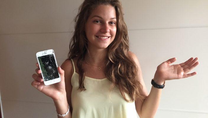 """Unsere Mitarbeiterin Natalie Stenger erfuhr Wohl und Wehe des """"Handyentzugs""""."""