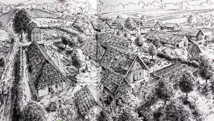 Ein bajuwarisches Dorf. Foto: Werner Krämer