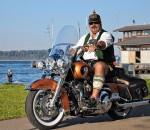 Die Harley und ihr Biker – Zwei Prachtexemplare!