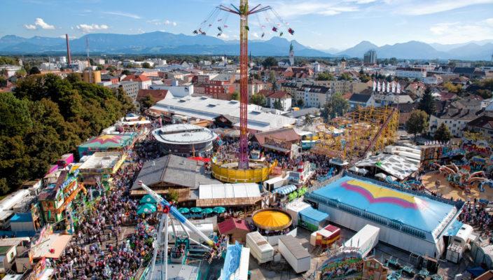 Immer wieder ein schöner Anblick: Das Herbstfestgelände auf der Loretowiese. Foto: Rumberger