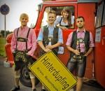 Die jungen Hauptdarsteller: Thomas Schmidbauer, Andreas Obermeier, Tanja Schmidbauer und Christoph Obermair.