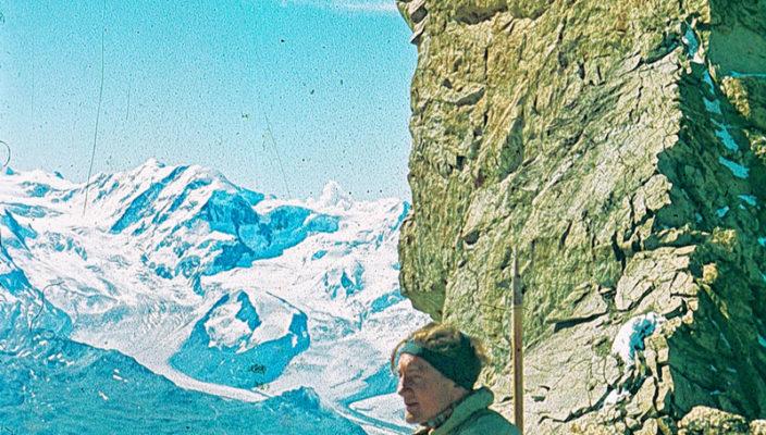 Gebhard Holzmann bei der Rast im Jahr 1952.