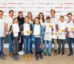 Diese jungen Forscher dürfen sich über einen ersten Preis freuen.