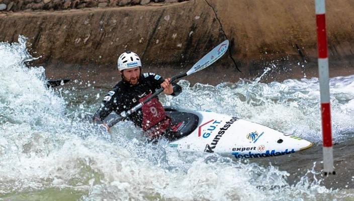 Tobias Kargl voll konzentriert beim Wettkampf.