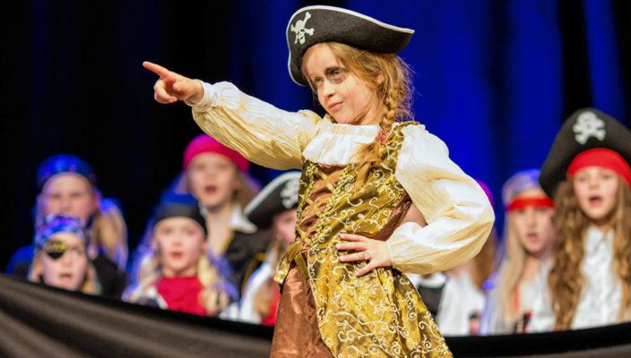 Schon in jungen Jahren beweisen die Kinder der Musikschule Bühnentalent.