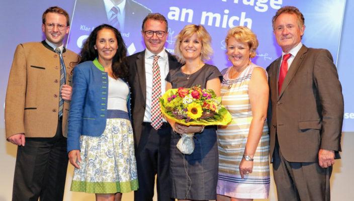 Von links bei der Kreisvertreterversammlung der CSU: Stephan Schlier, Christine Domek-Rußwurm, Klaus Stöttner, Daniela Ludwig, Sabine Balletshofer und Joseph Neiderhell.