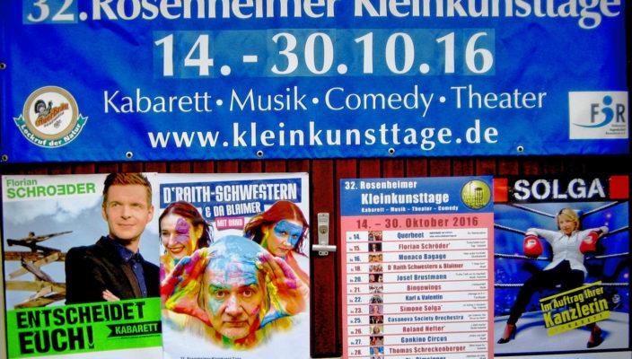 Eine Fülle von Hochkarätern der Kleinkunstszene kommt nach Rosenheim.
