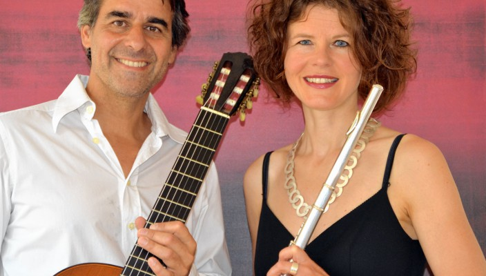 """""""Anaka Duo"""": Katharina Wittmann, Flöte, und Andreas Wittmann, Gitarre."""