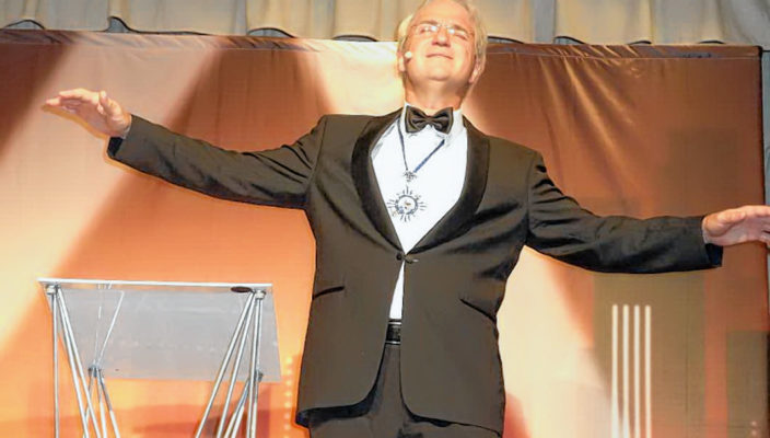 Wolfgang Krebs als Edmund Stoiber. Foto: re
