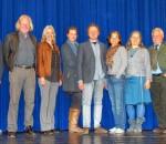 Bastian Schröger, Ivo A. Franz, Susanne Braune, Andrea Hailer, Christian Poitsch, Hedwig Hanus, Katharina Gruber-Trenker, Horst Halser, Reinhart Knirsch (von links).