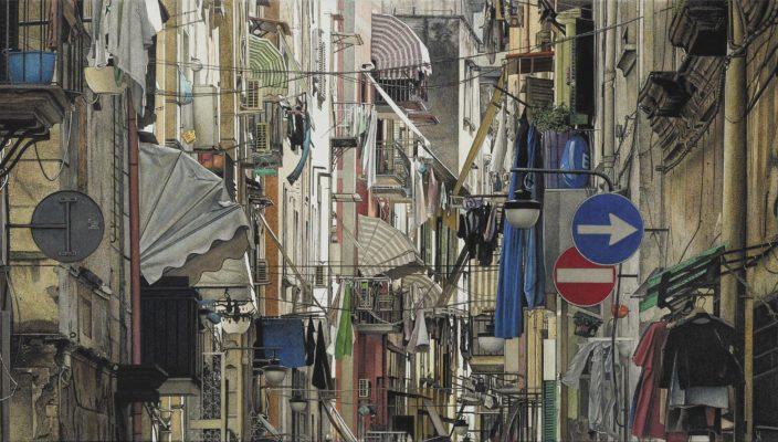 "Teil der Ausstellung: ""Quartieri Spagnoli 4"". Foto: Gerhard Prokop"