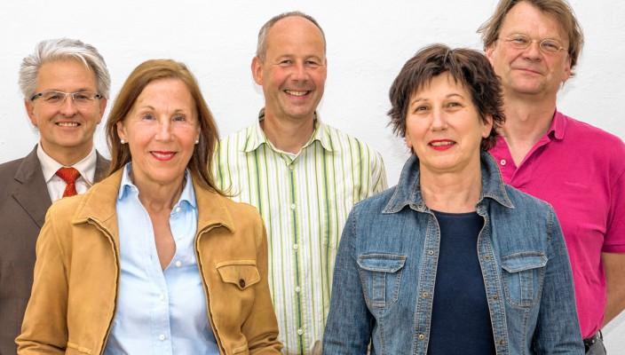 Roland Chmiel (Schatzmeister), Waltraud Rechenberg (Vorstand), Peter Weigel (Vorstand), Elisabeth Mehrl (Vorstand), Rainer Heinz (Schriftführer). Foto: Martin Weiand