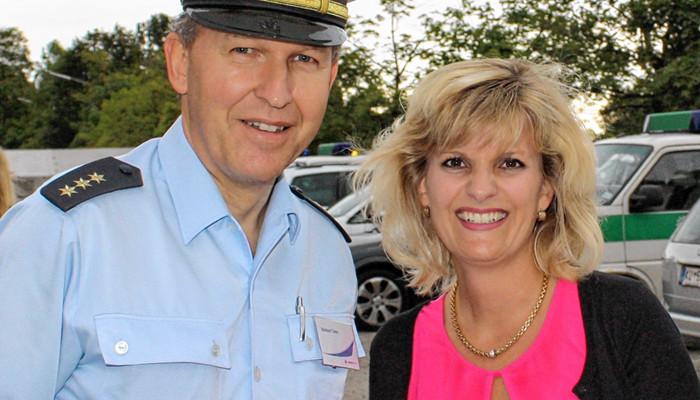 MdB Daniela Ludwig und der Leiter der Bundespolizeiinspektion Rosenheim, Reinhard Tomm. Foto: re