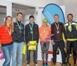 Strahlende Sieger beim Mangfall-Silvester-Lauf in Kolbermoor. Foto: Hoffmann