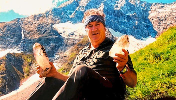 Mineraliengück in den Alpen.