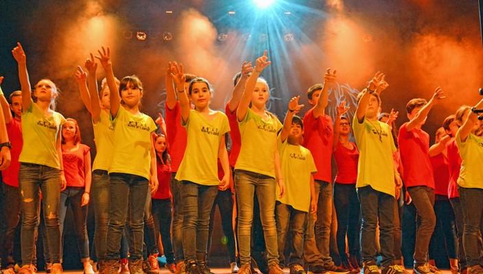 """Ab 10 Uhr proben die """"Kids in Motion"""" im Konzertsaal im Künstlerhof."""
