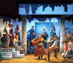 """Schwungvoll geht es zu bei dem bekannten Musical ,,My Fair Lady"""". Foto: Freies Landestheater Bayern"""